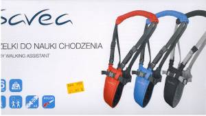 szelki do nauki chodzenia SAVEC max 13kg kolor RED